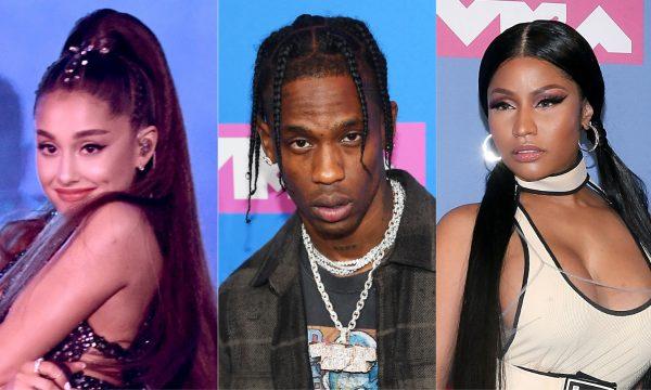 Após suposto shade, Ariana Grande esclarece comentário sobre treta entre Travis Scott e Nicki Minaj