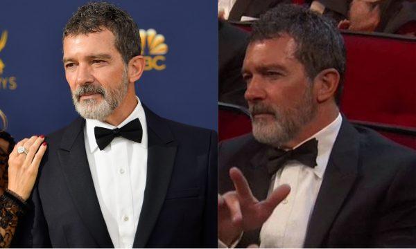Depois de Nicole Kidman é a vez de Antonio Banderas causar com aplausos bem esquisitos no Emmy! Vem ver