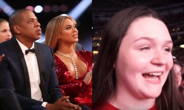 Beyoncé e Jay-Z surpreendem fã com bolsa de estudos durante show e ela se emociona! Vem ver!