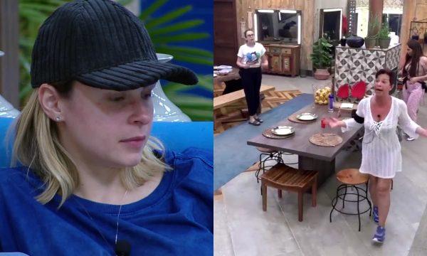 """A Fazenda 10: Vídeo – Ana Paula briga com Vida Vlatt por conta de organização e ela dispara: """"Se equilibra!"""""""