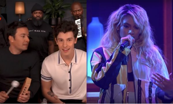 'The Tonight Show': Shawn Mendes canta com instrumentos infantis e Dinah Jane arrasa em performance de Bottled Up