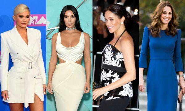 Kylie Jenner, Kim Kardashian eMeghan Markle lideram ranking das celebridades mais influentes na moda em 2018; confira a lista completa!