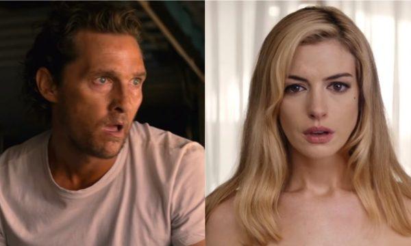 Anne Hathaway coloca Matthew McConaughey em situação perigosa no trailer do suspense 'Calmaria'; assista