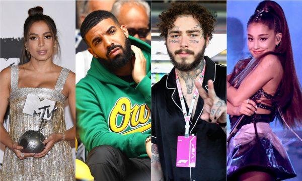 Anitta, Drake, Post Malone e Ariana Grande se destacam entre os mais ouvidos do Spotify em 2018