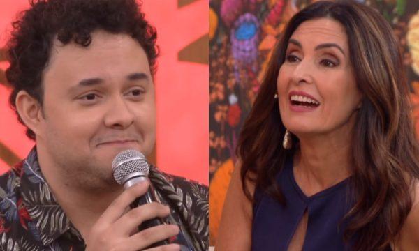 """'Encontro': humorista Gui Santana surpreende Fátima Bernardes com imitação de William Bonner: """"Muda aí o personagem"""""""